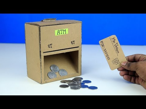 DIY Atm Machine Easy for kids || Atm Coin Machine From Cardboard || How To Make Atm piggy Bank