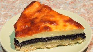 Бабушкин пирог с маком и творогом Контрастный Grandma s pie with poppy seeds and cottage cheese