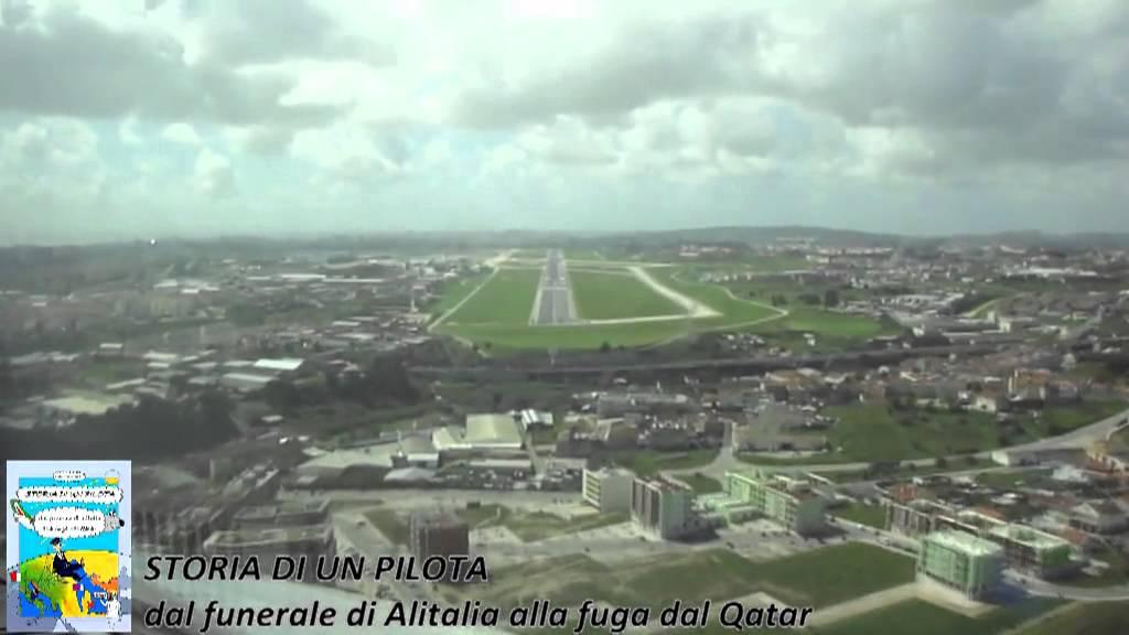 Aeroporto Lisbona : Un emozionante volo tra lenubi verso l atterraggio all