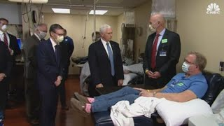 VP Mike Pence visits Mayo Clinic, but does not wear face mask