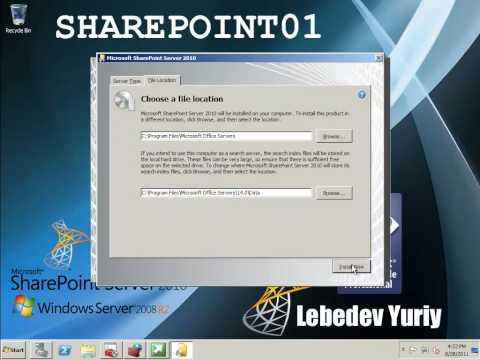 Установка Microsoft SharePoint Server 2010