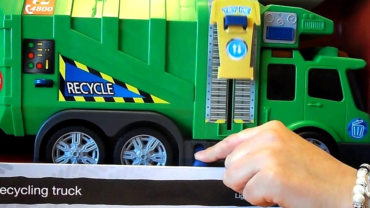Car Sound Effects >> DICKIE TOY GARBAGE & REFUSE Lorry SHOWING MOTORIZED BIN ...