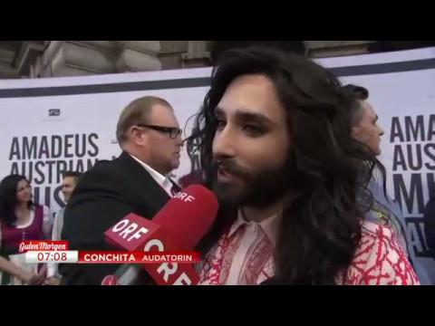 Conchita Wurst At The Aama 2017 Orf Tvthek Guten Morgen österreich
