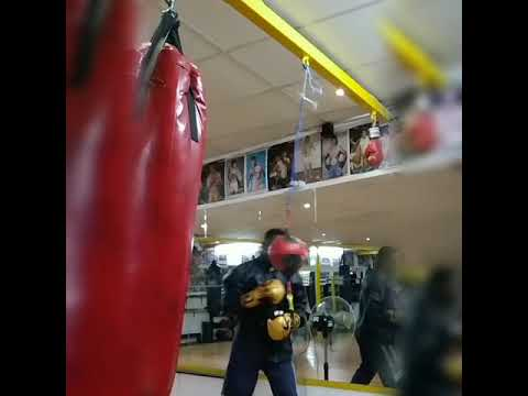 PATRICK. M.the BlackPanther In camp training to defend his WBA pan african title.