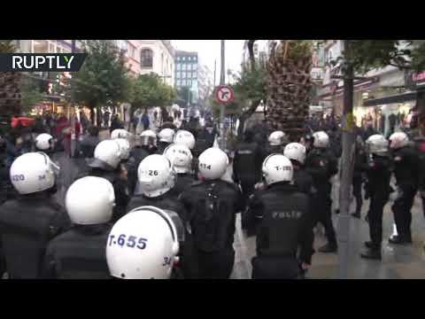 RT: Turkish police tackle pro-Kurdish protesters in Istanbul, 12 people detained– reports