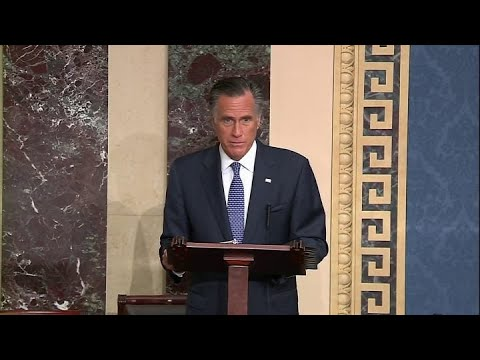 Image result for mitt romney impeachment speech
