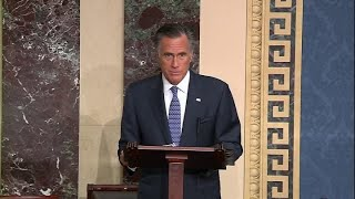Sen. Mitt Romney will vote to remove Trump from office in impeachment trial