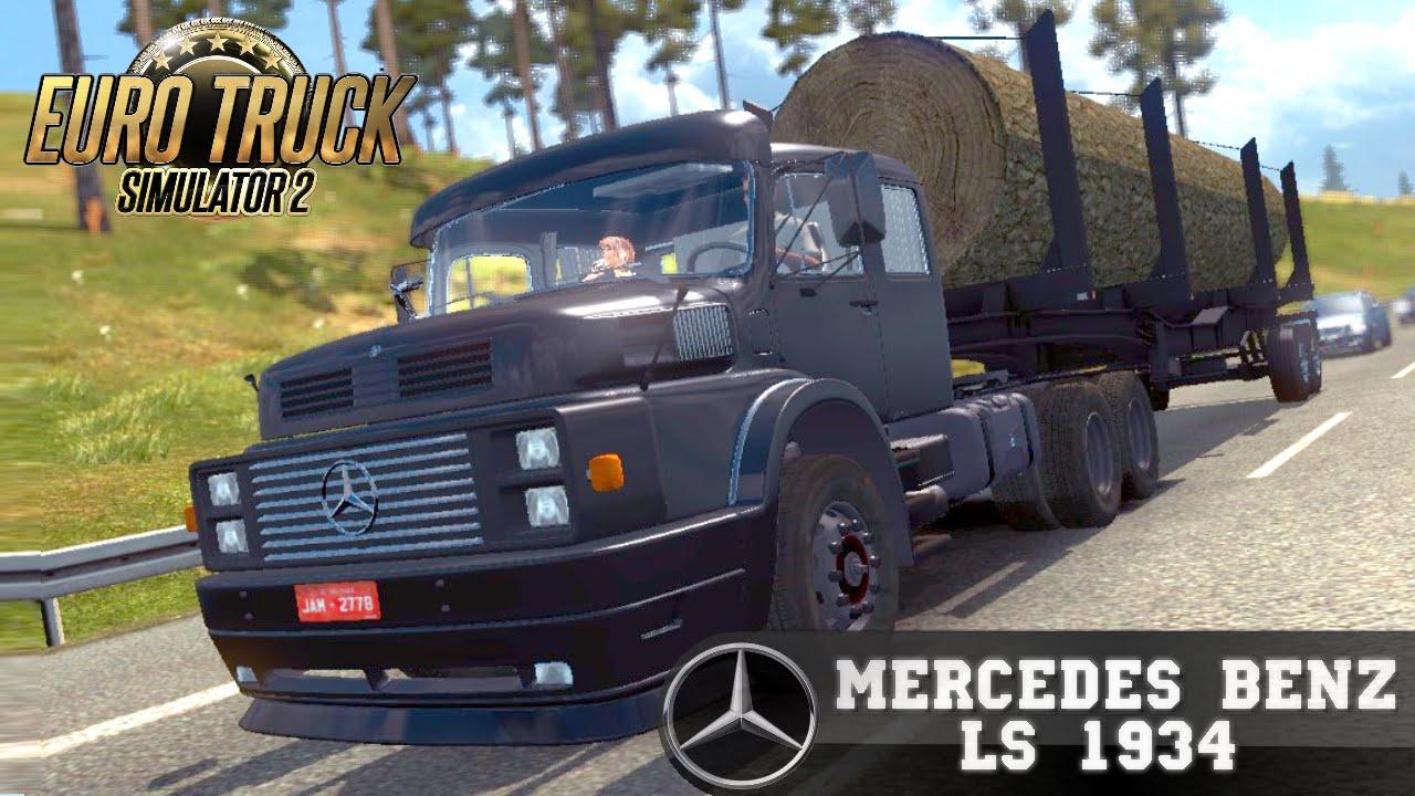 Euro Truck Simulator 2 mod MERCEDES BENZ LS 1934 old truck