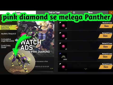 Freefire Spooky Pink Diamond Pink Diamond Se Panther Kise Le Free Fire Live Free Fire New Event Youtube