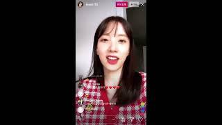 김지숙 레인보우 지숙 JiSook 's 200603 Instagram Live 01 With Chat Fit…