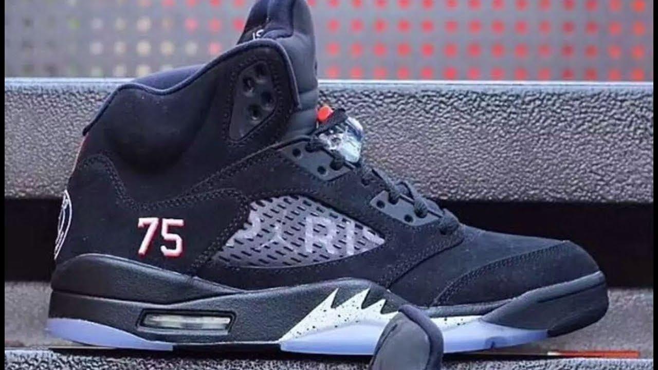 premium selection cadfb 6edad Air Jordan 5 Paris Saint-Germain Retro Shoe Review VS Black Metallic V's  Comparision