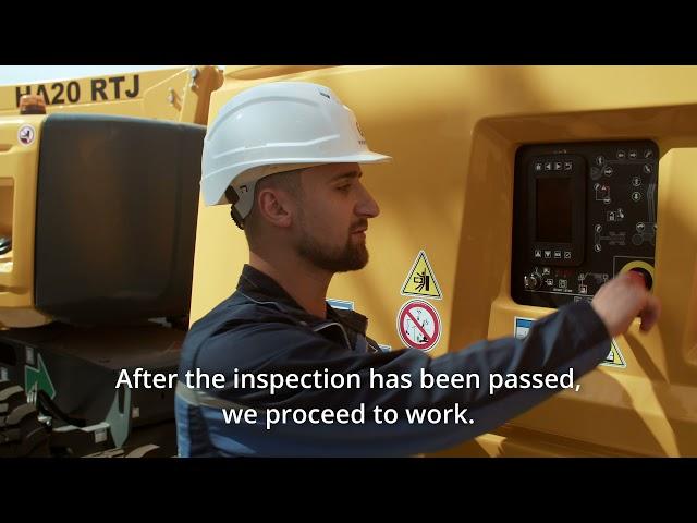Коленчатые подъемники Haulotte серия RTJ-обзор и особенности управления