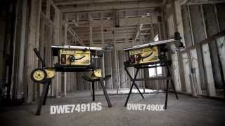 Workshop Capacity, Jobsite Power - Dewalt New Jobsite Table Saws