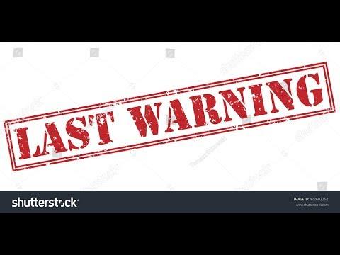 LAST WARNING BEFORE RV