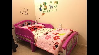 Delta Frozen toddler bed Time lapse video