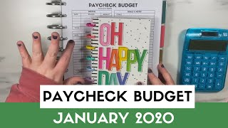 Paycheck Budget    PAYCHECK Budgeting With Me January 2020