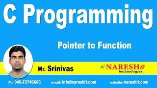 Pointers - Pointer to Function | C Language Tutorial
