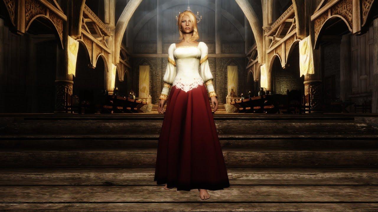 Skyrim Wedding Dress.Skyrim Mod Noble Wedding Dress