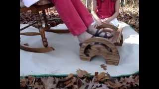 Handcrafted Oak Adjustable Nursing Stool