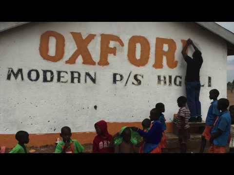 Painting Oxford Modern Primary School Uganda
