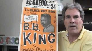 B.B. King Concert Poster 1960s Blues Boy In Person