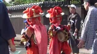 吉田神社祗園祭2016子供の笹踊り(西八町会所)