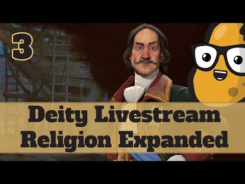 LIVESTREAM - Civ 6 Deity Russia - Religion Expanded Part 3