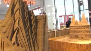 Sandskulpturen im Haerder Center Lübeck : Die Passat - Das Holstentor - Thomas Mann.