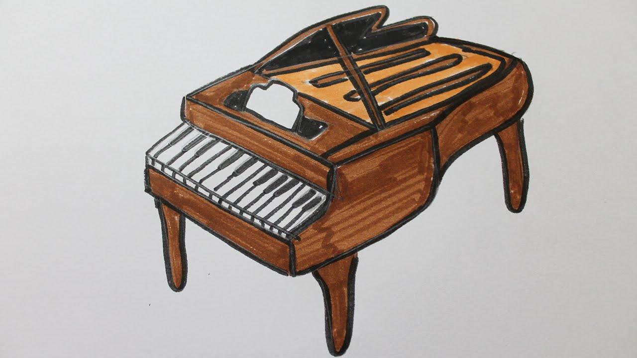 Comment dessiner un piano youtube - Comment demenager un piano droit ...