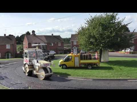 Tarmacing A Roundabout, Worcester, Worcestershire, England 23rd September 2016