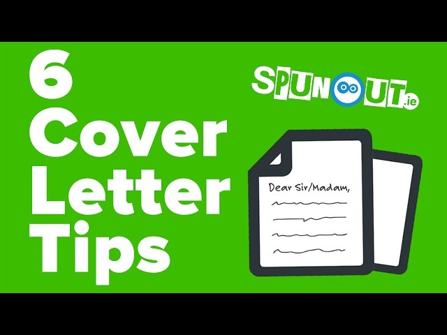 Top 6 Tips For Your Cover Letter