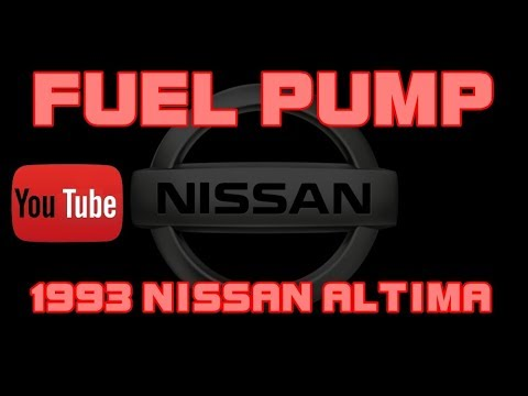 ⭐ 1993 Nissan Altima - 2 4 - Fuel Pump Replacement