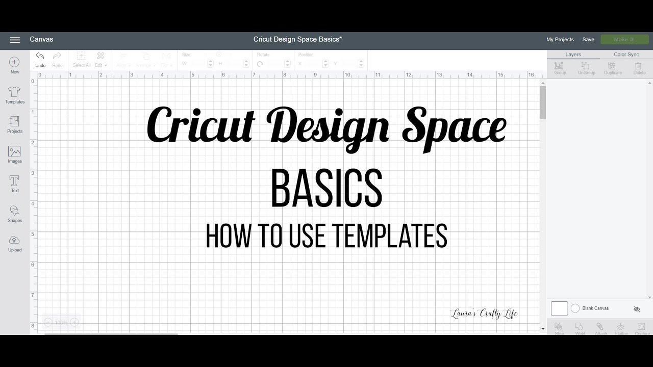 How To Use Templates In Cricut Design Space Youtube