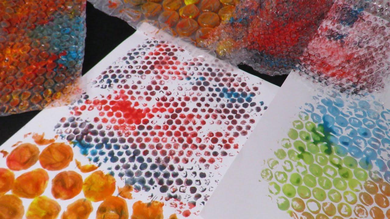 Print With Bubble Wrap Fatema S Art Show Youtube