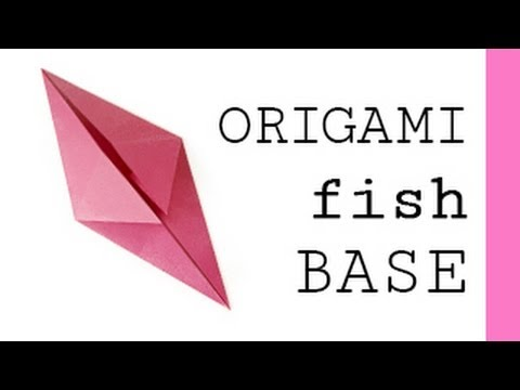 origami fish base youtube