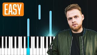 "Cover images Tom Walker - ""Leave A Light On"" 100% EASY PIANO TUTORIAL"