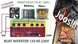 Video CARA BUAT INVERTER 12V  DC ke 220V AC download MP3, 3GP, MP4, WEBM, AVI, FLV Oktober 2018