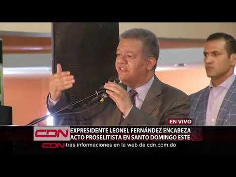 Expresidente Leonel Fernández encabeza acto proselitista en SDE