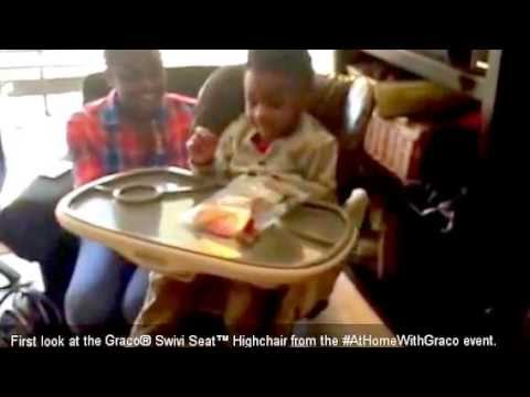 Graco® Swivi Seat™ Highchair First Look #AtHomeWithGraco