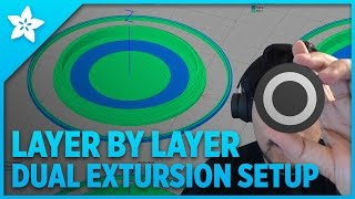 layer by layer dual extrusion setup