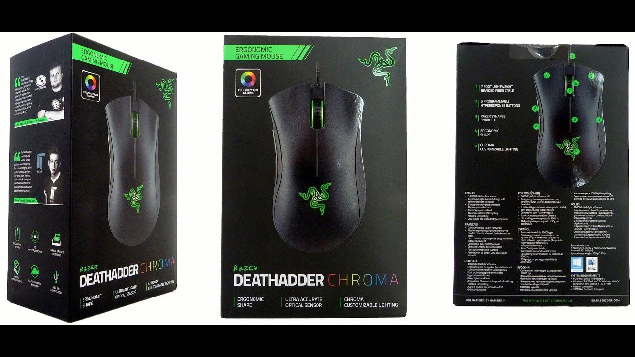 Razer DeathAdder Elite Esports Gaming Mouse 16,000DPI