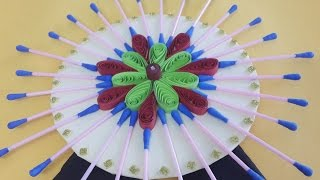 DIY Wall Decoration Idea : Beautiful and Stunning Wall Decor Using Quilling & Ear Buds!