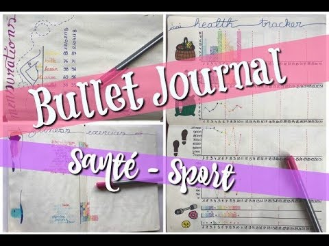[Bullet Journal] Mes pages santés/sports
