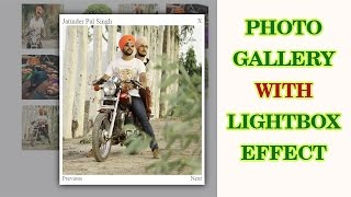 How to make lightbox effect for photo gallery with HTML and CSS only. (Part 2 - Final)