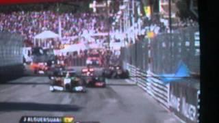 PETROV monaco crash / accident at GP monaco 2011(petrov,alguersuari,vetel...)Red flag