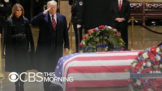 Trump offers praise for George H.W. Bush despite past criticisms of family