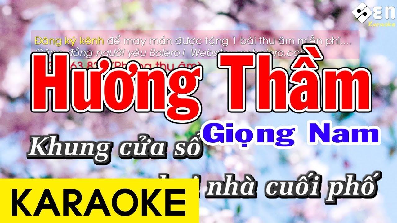 Hương Thầm – Karaoke Nam Beat Chuẩn
