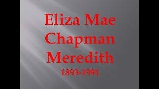 Eliza Mae Chapmen Meredith