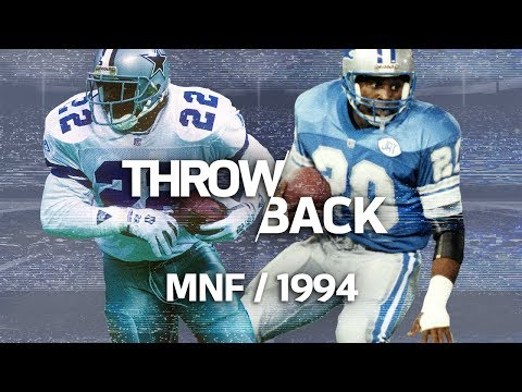 Emmitt Smith vs. Barry Sanders Monday Night Showdown | #ThrowbackThursday | NFL NOW