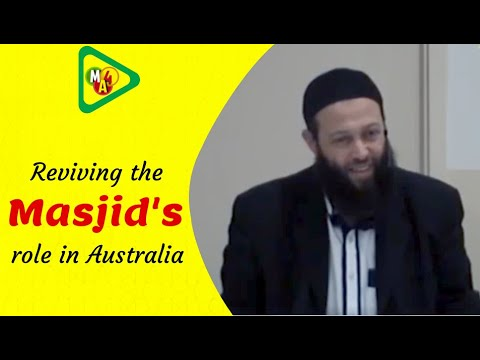 Reviving the Masjid's role in Australia